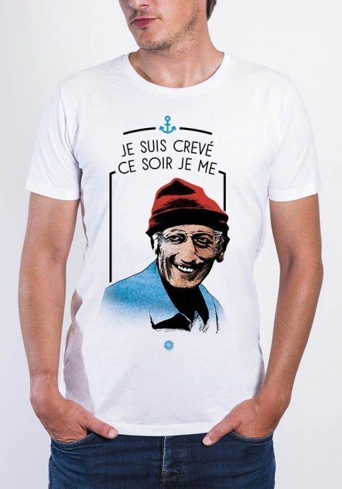 Cousteau T-shirt Col Rond Homme