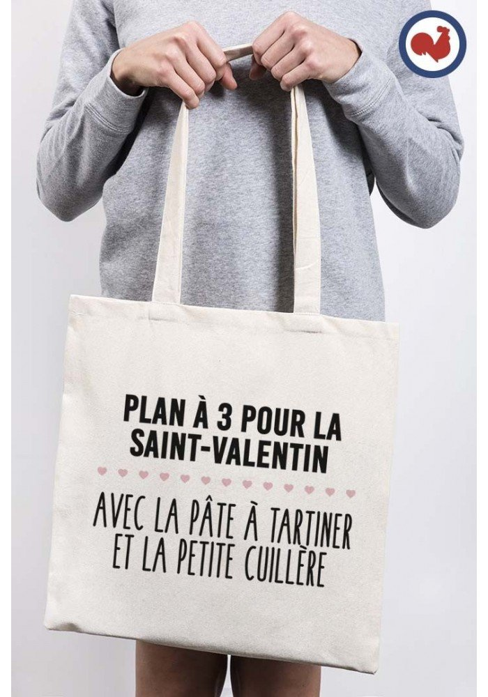 Plan à trois - Tote bag Made in France