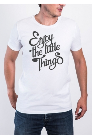 Enjoy the little things T-shirt Homme Col Rond