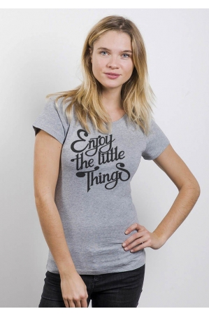 Enjoy the little things T-shirt Femme Col Rond