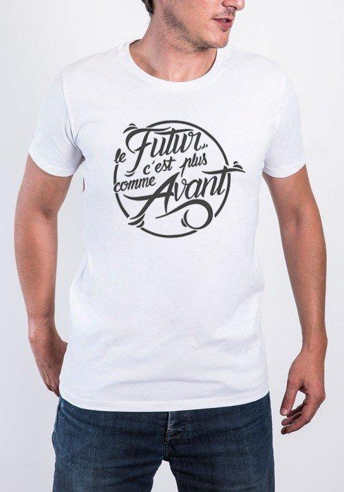 Le futur c'est plus comme avant T-shirt Homme Col Rond