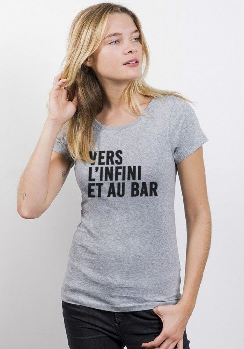 Vers l'infini T-shirt Femme Col Rond