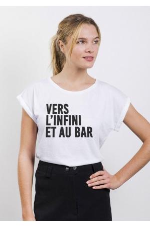 Vers l'infini T-shirt Femme Manches retroussées