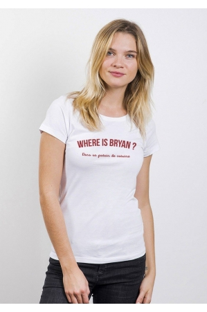 Where is Bryan T-shirt Femme Col Rond