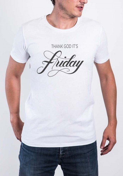 Thank God it's Friday T-shirt Homme Col Rond