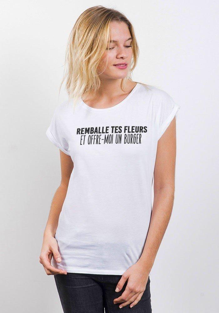 Remballe tes fleurs T-shirt Femme Manches retroussées