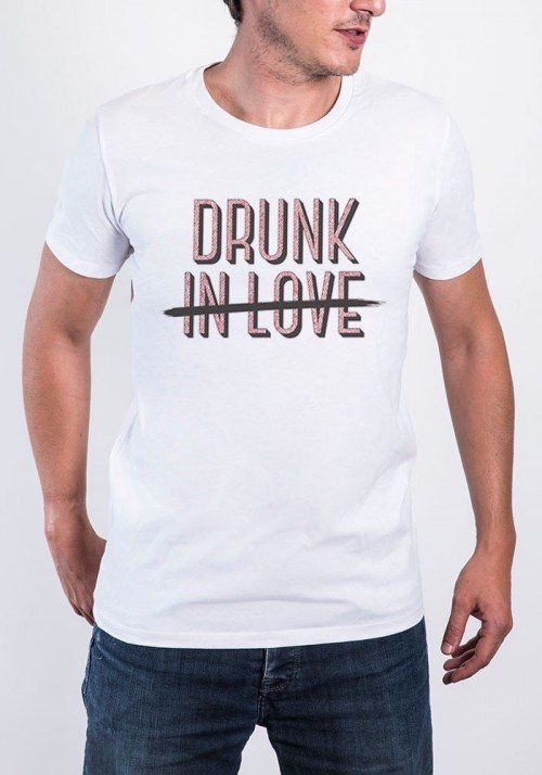 Drunk in Love T-shirt Homme Col Rond