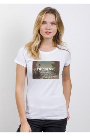 Princesse T-shirt Femme Col Rond