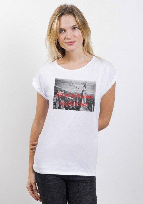 Dis moi que tu m'aimes T-shirt Femme Manches retroussées