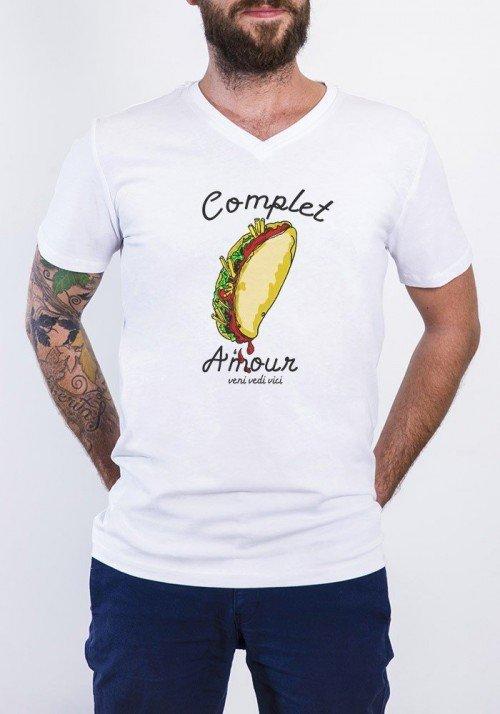 Complet amour T-shirt Homme Col V