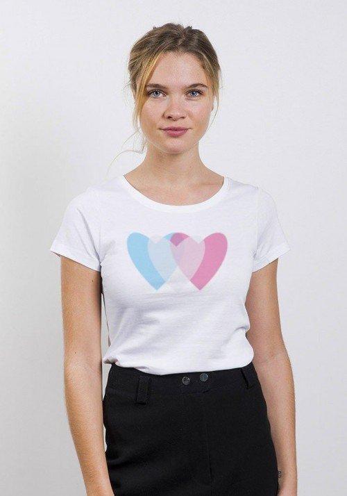 Love 3D T-shirt Femme Col Rond