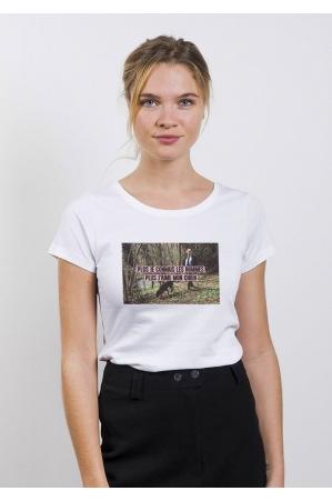J'aime mon chien T-shirt Femme Col rond
