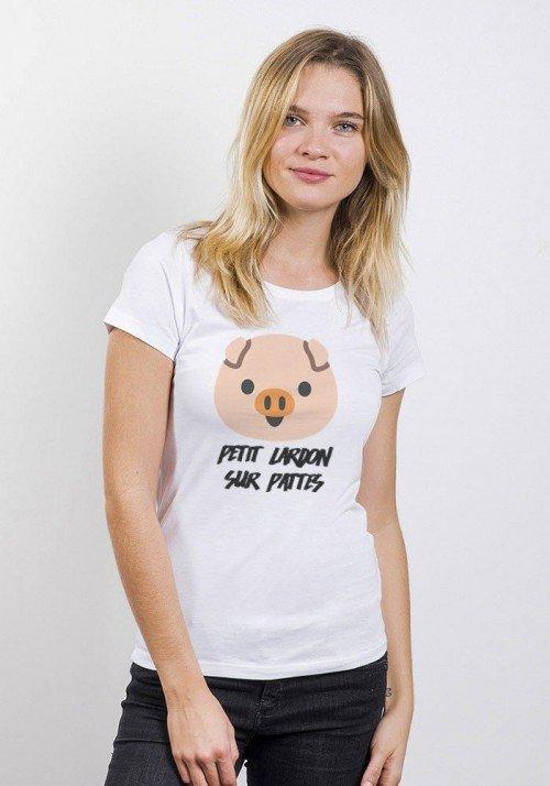 Petit lardon sur patte T-shirt Femme Col rond