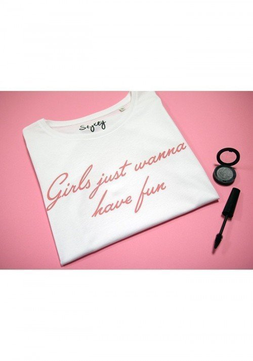 Girls just wanna have fun - Tshirt Femme Col rond