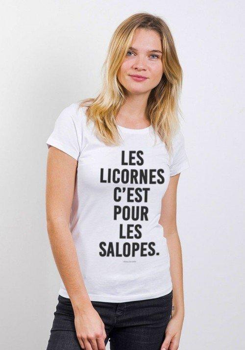 Tshirts Femme Les Licornes c'est pour les Salopes
