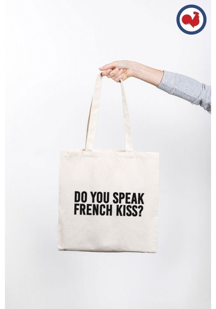 Do you Speak French Kiss - ToteBag made in France