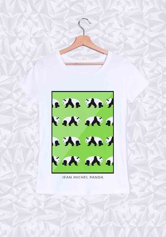 Tshirts Femme Panda Vert
