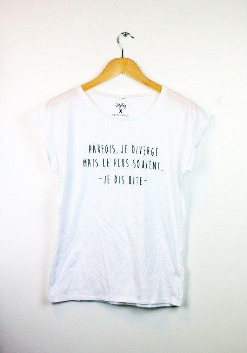 Je Diverge - Ange Gabriel - Tshirts femmes manches retroussées