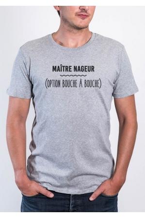 Maitre Nageur Option Bouche à bouche - Tshirt homme col rond