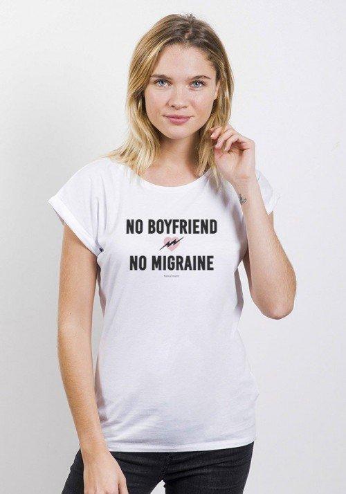 No boyfriend No Migraine - Tshirt femme