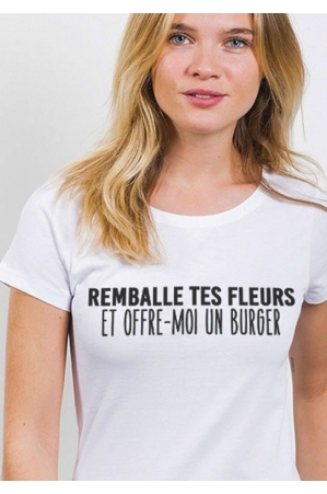Remballe tes fleurs T-shirt Femme Col Rond