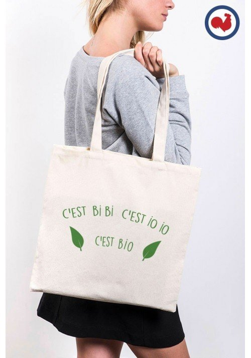 c'est bibi c'est bio Totebag Made in France
