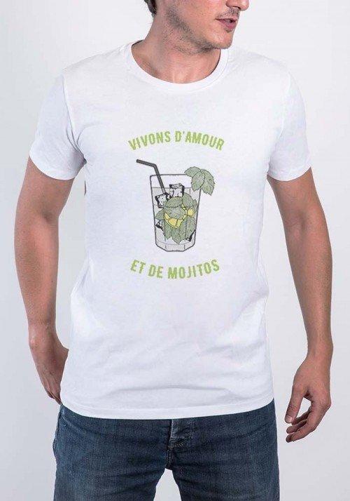 Vivons d'amour et de Mojito - Tshirt Homme
