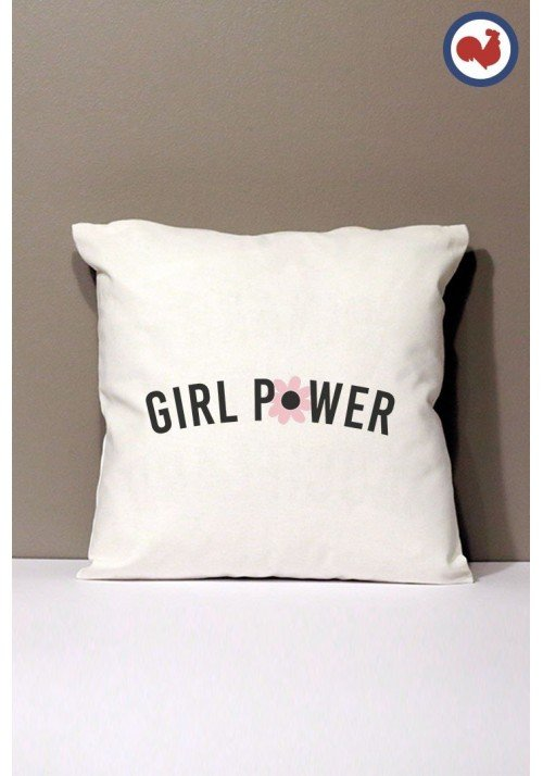 Girl Power Coussin Made in France Bio