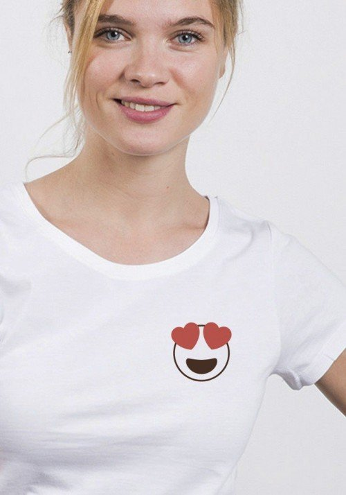 Emoji Love  - Tshirt femme