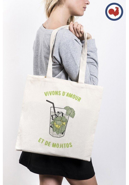 Vivons d'amour et de Mojito - ToteBag Made In France