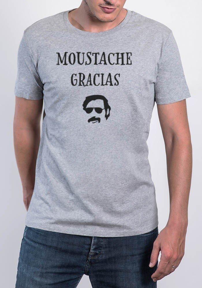 Moustache Gracias - Tshirt Col Rond Homme