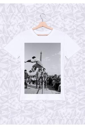 Eiffel Roller  T-shirt Homme Col Rond