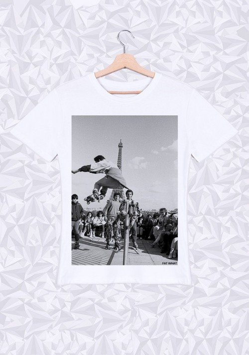 Eiffel Roller  T-shirt Homme Col Rond