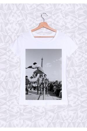 Eiffel Roller T-shirt Femme Col Rond