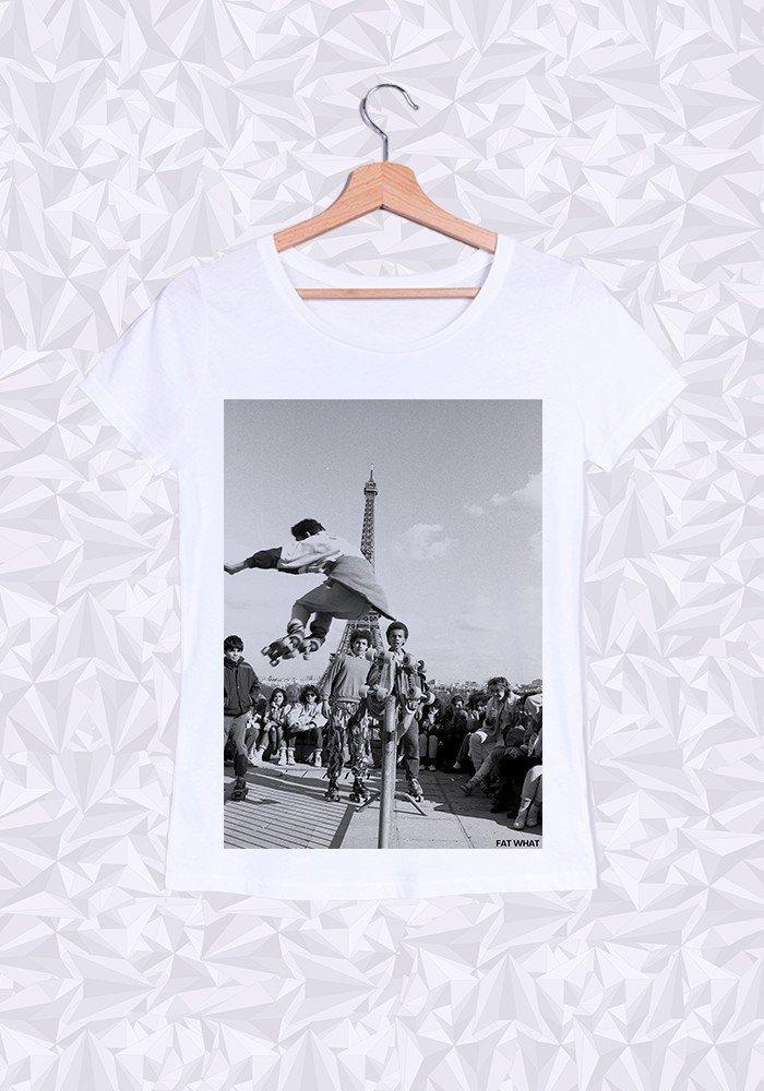 Tshirts Femme Eiffel Roller