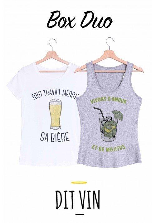 Box 2 T-shirts Femme DIT VIN