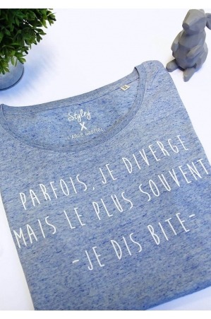 Je diverge T-shirt bleu chiné Femme