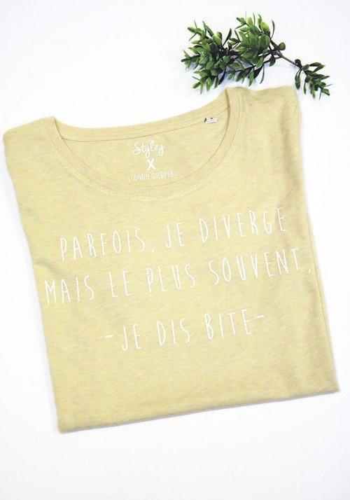Je diverge T-shirt jaune chiné Femme