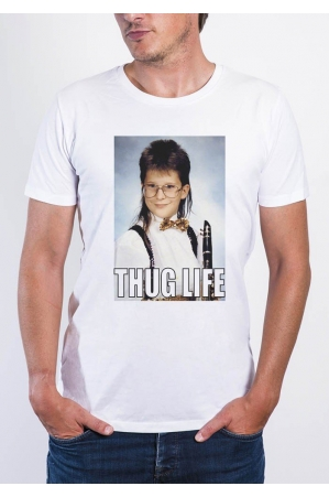Thug Life- T-shirt col rond Homme