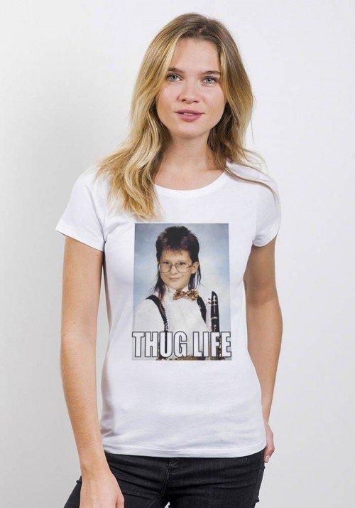 Thug Life- T-shirt col rond Femme