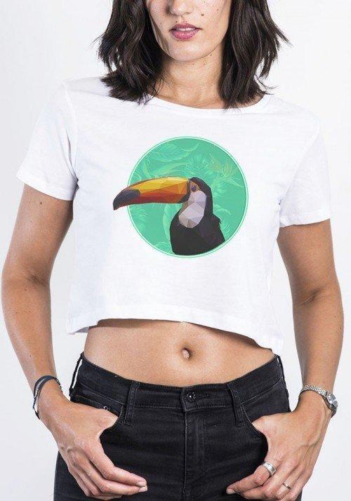 Crop Top Femme Toucan