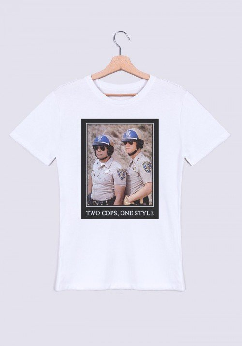 Two Cops One Style T-shirt Homme Col Rond