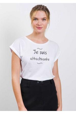 Attachiante T-shirt Femme Manches Retroussées