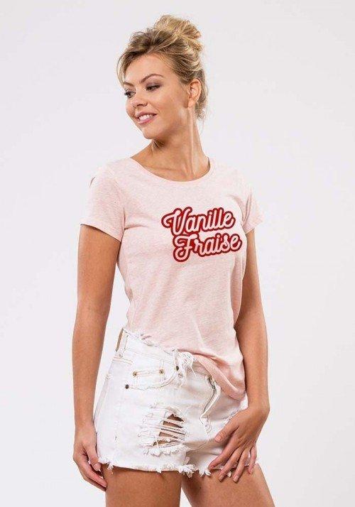 Vanille fraise T-shirt Femme
