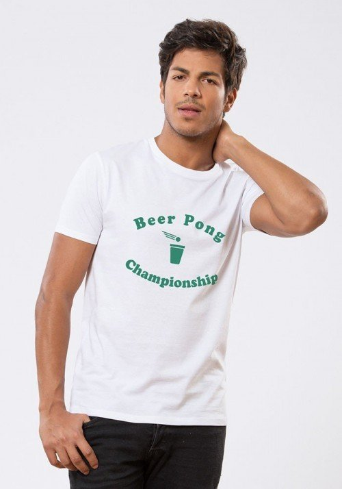 BEER PONG T-shirt Homme blanc
