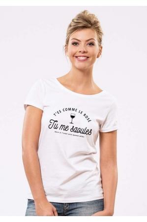 Tu me saoules T-shirt Femme Col Rond