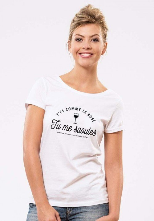 Tu me saoules T-shirt Femme Col Rond