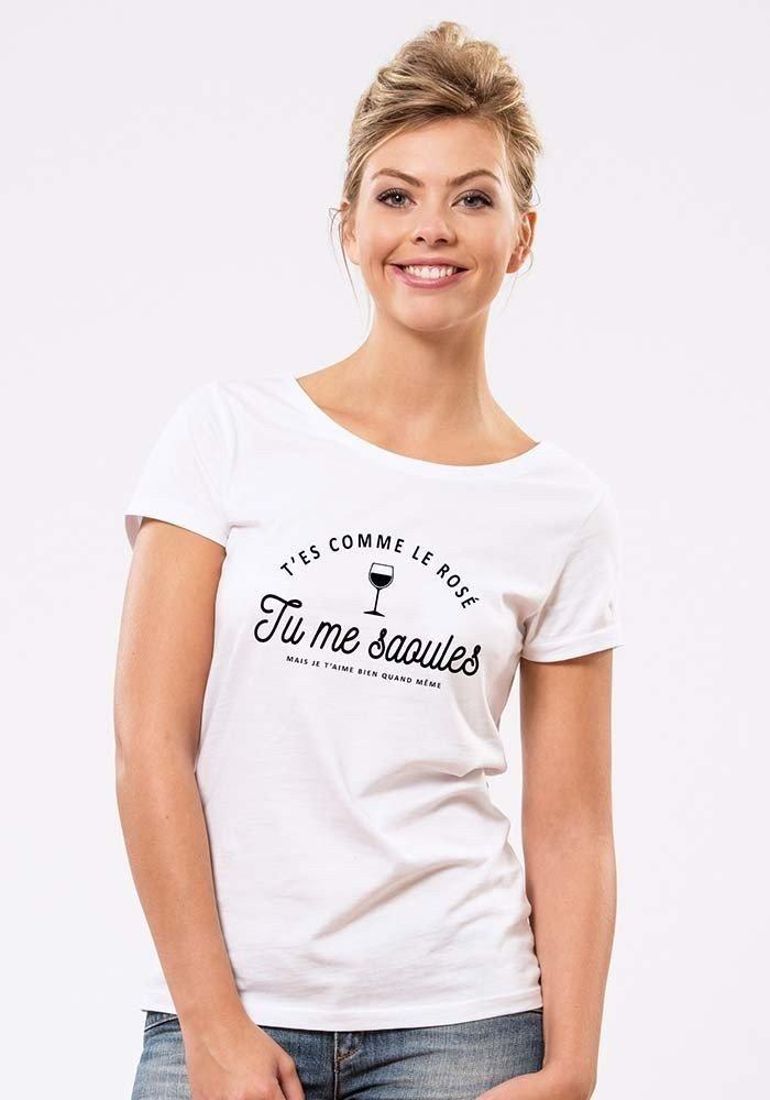 Bichette Typo T-shirt Femme Col Rond