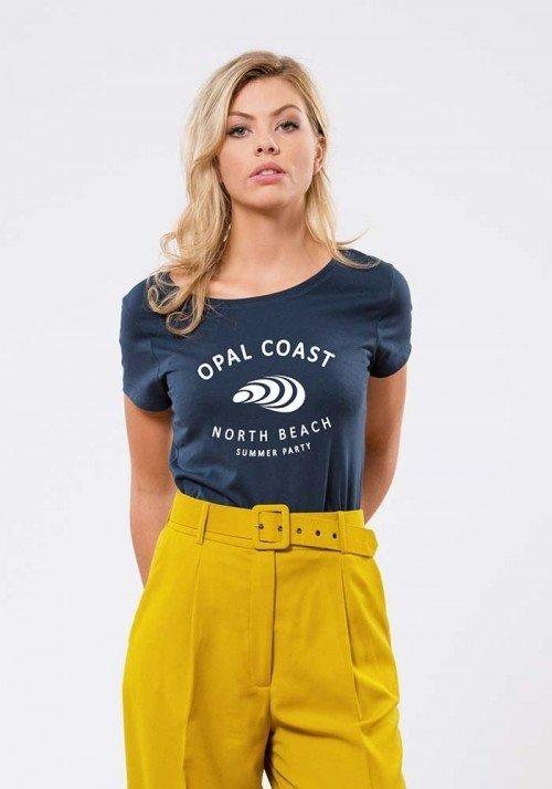 Opal coast Navy T-shirt Femme