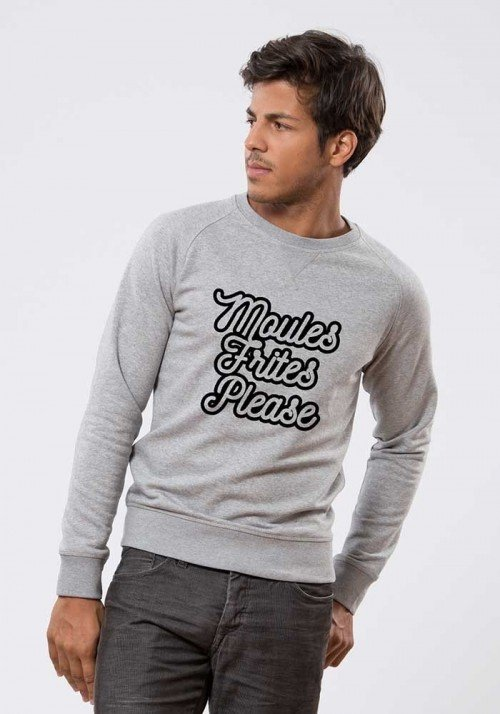 moules frites  Sweat Homme